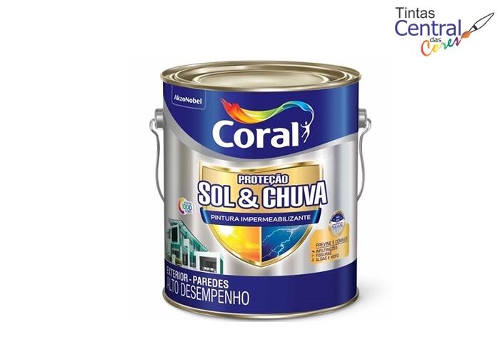 Proteção Sol & Chuva Pintura Impermeabilizante Coral